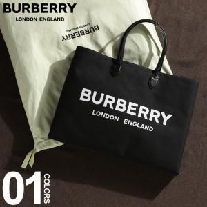 バーバリー BURBERRY トートバッグ ロゴ プリント コットンキャンバス BLACK ブランド メンズ レディース BB8009268|zen