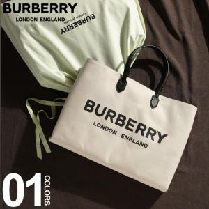バーバリー BURBERRY ロゴディテール コットンブレンド トートバッグ BEIGE ブランド メンズ バッグ トート キャンバス プリント BB8009269|zen