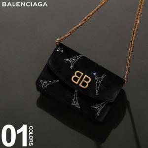 バレンシアガ BALENCIAGA ショルダーバッグ ベルベット クリスタル エッフェルタワー ロゴ ゴールド チェーン ブランド レディース BCL5615079JAE4|zen