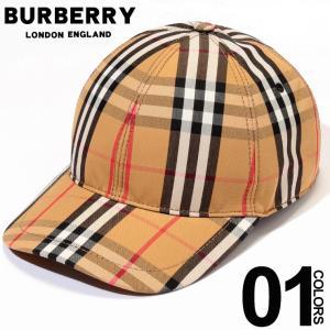 バーバリー BURBERRY キャップ ヴィンテージチェック ブランド メンズ 帽子 レザー スナップバック BB8015833|zen