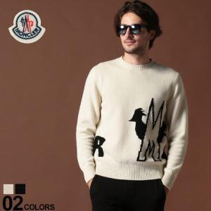 モンクレール MONCLER ニット セーター カシミヤ混 ウール ロゴ クルーネック ブランド メンズ トップス カシミア MC9041300A9040|zen