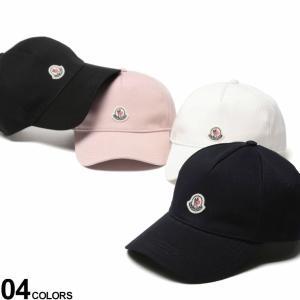 モンクレール レディース キャップ MONCLER ロゴ ワッペン コットンキャップ ブランド 帽子 ロゴ刺繍 アジャスター メンズ コットン MCL3B70310V0006 zen