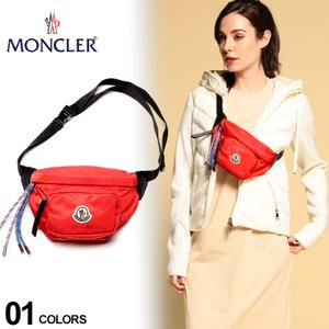 モンクレール バッグ MONCLER ロゴ ナイロン ベルトバッグ FELICIE 黒 赤 ブランド メンズ レディース ウエストポーチ ボディバッグ MCL5M7000002SA9|zen