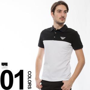 エンポリオアルマーニ EMPORIO ARMANI ポロシャツ 半袖 バイカラー 鹿の子 ブランド メンズ EA3Z1F701J0SZ|zen