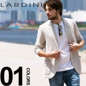 ラルディーニ LARDINI ジャケット ニット ストライプ シングル 2ッ釦 2B ブランド メンズ テーラードジャケット コットン 麻 リネン LDJM2250003|zen