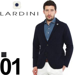 ラルディーニ LARDINI ジャケット コットンニット ストライプ織 2B ブランド メンズ  LDLJM1950017|zen