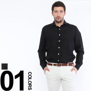 ラルディーニ LARDINI 麻シャツ リネンシャツ 長袖 ブランド メンズ 麻100% LDCIROC710|zen