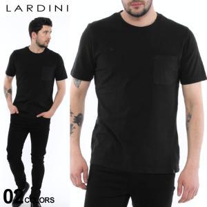 ラルディーニ LARDINI Tシャツ 半袖 ポケット ブートニエール クルーネック ブランド メンズ LDLTMC1450026|zen
