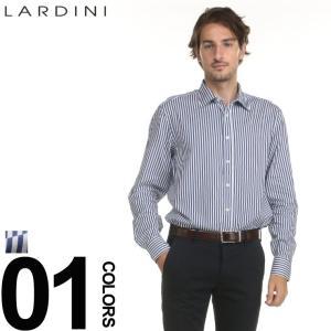 ラルディーニ シャツ LARDINI ストライプ ネイビー ブートニエール 長袖 ドレスシャツ ブランド メンズ 紳士 ビジネス ワイシャツ LDDANTEIGC829|zen