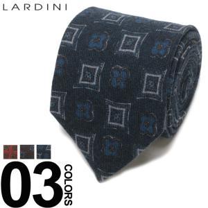 ラルディーニ LARDINI ブートニエール付き 小紋柄 ネクタイ ウールタイ ブランド メンズ ビジネス ウール LDCRC8IG51100|zen