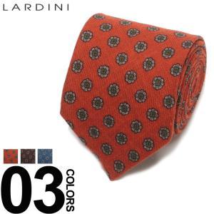 ラルディーニ LARDINI ブートニエール付き 小紋柄 ネクタイ ウールタイ ブランド メンズ ビジネス ウール LDCRC8IG51103|zen