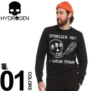 ハイドロゲン HYDROGEN スウェット トレーナー スカル ブランド メンズ トップス プリント LAURINA PAPERINA HYLP0140|zen