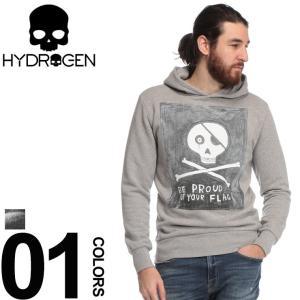 ハイドロゲン HYDROGEN スウェット パーカー スカル プルオーバー ブランド メンズ トップス プルパーカー プリント スエット LAURINA PAPERINA HYLP0136|zen