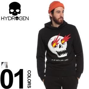 ハイドロゲン HYDROGEN スウェット パーカー スカル プルオーバー ブランド メンズ トップス プルパーカー プリント スエット LAURINA PAPERINA HYLP0134|zen