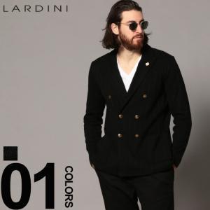 ラルディーニ LARDINI ジャケット コットンニット ダブル 6ツ釦 ニットジャケット ブランド メンズ ストライプ ブートニエール LDLJM57X52002 zen