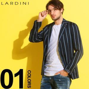 ラルディーニ LARDINI ジャケット リネン 麻ジャケット ストライプ シングル 段返り3ツ釦 3B ブランド メンズ テーラード LD528AVRP52592|zen