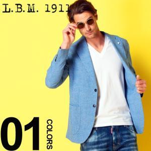 LBM 1911 エルビーエム ジャケット 麻ジャケット 千鳥格子 シングル 2ツ釦 2B ブランド メンズ テーラード リネンジャケット LBM281595860|zen