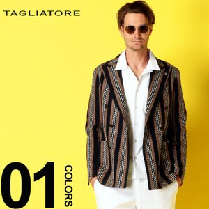 タリアトーレ TAGLIATORE ジャケット ニットジャケット ストライプ ダブル 6ツ釦 コットンニット ブランド メンズ ダブルジャケット ニット TGMJ20K57YEJ140|zen