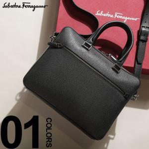サルバトーレフェラガモ Salvatore Ferragamo ブリーフケース 2WAY レザー 型押し ロゴ ブリーフバッグ ブランド メンズ ビジネス バッグ FG240458F9|zen