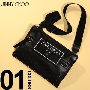 ジミーチュウ JIMMY CHOO バッグ レザー スター スタッズ クロスボディバッグ KIMIUXI ブランド メンズ 鞄 クラッチ 星 ショルダー JCKIMIUXI|zen
