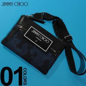 ジミーチュウ JIMMY CHOO バッグ レザー ジャガード カモフラージュ クロスボディバッグ KIMICDJ ブランド メンズ 鞄 クラッチ 迷彩 ショルダー JCKIMICDJ|zen