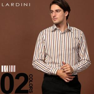ラルディーニ LARDINI シャツ 長袖 ストライプ ドレスシャツ カッタウェイシャツ ブランド メンズ トップス ワイシャツ コットン LDANGELOILC1122|zen