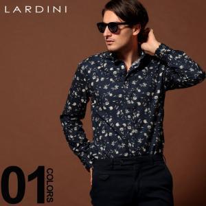 ラルディーニ LARDINI シャツ 長袖 花柄 ホリゾンタル ブランド カッタウェイシャツ メンズ トップス シャツ 総柄 柄シャツ フラワー コットン LDCIROILC1148|zen