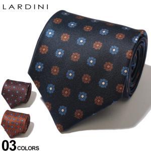 ラルディーニ LARDINI ネクタイ シルク 小花柄 ブランド メンズ タイ シルク LDCRC8IL53114|zen