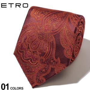 エトロ ETRO ネクタイ シルク ペイズリー ORANGE オレンジ ブラウン ブランド メンズ タイ ET120266008|zen