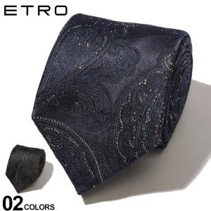 エトロ ETRO ネクタイ シルク ゴールド ブラック ペイズリー ブランド メンズ タイ ET120266007|zen