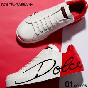 ドルチェ&ガッバーナ DOLCE&GABBANA ドルガバ スニーカー レザー エナメル ロゴ プリント ローカット ブランド メンズ 靴 シューズ DGCS1600AI053 zen