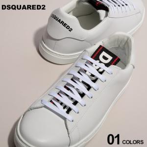 ディースクエアード DSQUARED2 スニーカー レザー ロゴ シュータン ローカット New Tennis Sneakers ブランド メンズ 靴 シューズ D2SNM0090150|zen