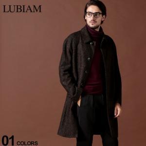 ルビアム LUBIAM コート カシミヤ混 ウール へリンボーン ステンカラー ブランド メンズ アウター ロングコート LBM741097016|zen