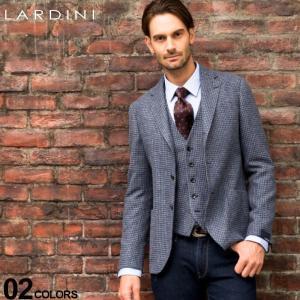 ラルディーニ LARDINI ジャケット ウール 千鳥格子 段返り3ツ釦 3B ブランド メンズ アウター テーラード ハウンドトゥース LD902AEA53538|zen
