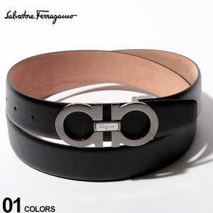 サルバトーレフェラガモ Salvatore Ferragamo ベルト レザー ダブル ガンチーニ ロゴ ブランド メンズ ビジネス レザーベルト 本革 FG671453F9|zen