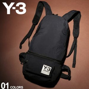 Y-3 ワイスリー バックパック パッカブル 2WAY ナイロン ロゴ ボディバッグ PACKABLE BP BLACK ブランド メンズ リュック ウエストポーチ Y3FH9255 zen