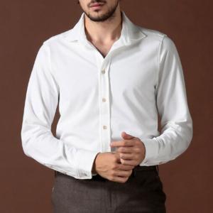 チルコロ1901 CIRCOLO 1901 シャツ 長袖 コットン ジャージー ストレッチ ブランド メンズ トップス 白 黒 CI2359|zen