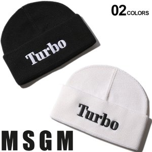MSGM エムエスジーエム ニットキャップ ウール Turbo ロゴ 刺繍 ニット帽 ブランド メンズ レディース 帽子 キャップ MS2740ML08|zen