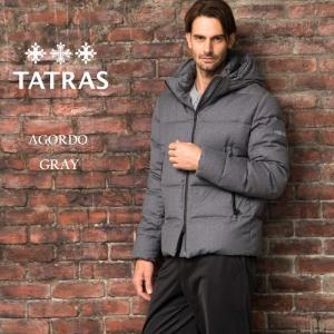タトラス TATRAS ダウンジャケット ウール パーカー フード AGORDO アゴルド ブランド メンズ アウター グレー TRMTK20A4148 zen