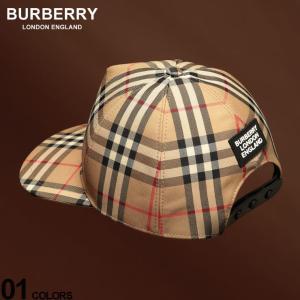バーバリー メンズ キャップ BURBERRY ヴィンテージチェック ロゴ ブランド 帽子 ベースボールキャップ チェック コットン BB8021444 zen