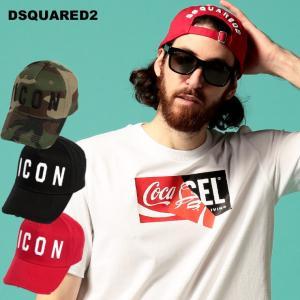 ディースクエアード メンズ キャップ DSQUARED2 ICON ロゴ 刺繍 アジャスター ダメージ コットン ブランド 帽子 レディース D2BCM400105C001 zen