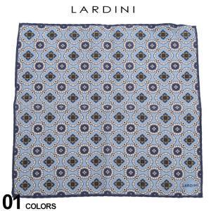 ラルディーニ メンズ チーフ LARDINI シルク混 小紋柄 ブランド ポケットチーフ ハンカチ シルク 絹 LDPOT12EI54131|zen