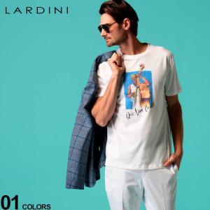 ラルディーニ メンズ Tシャツ LARDINI Que Viva Cuba 楽器 プリント クルーネック 半袖 ブランド トップス プリントT LDLTCUBA544013|zen
