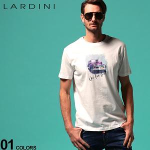 ラルディーニ メンズ Tシャツ LARDINI Que Viva Cuba アメ車 プリント クルーネック 半袖 ブランド トップス プリントT LDLTCUBA544014|zen