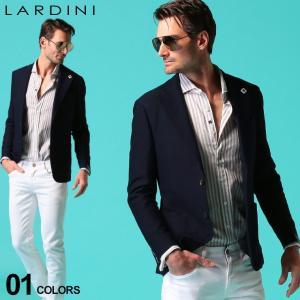 ラルディーニ メンズ ジャケット LARDINI コットン ニット ジグザグ ジャージー シングル 2ツ釦 2B ブランド テーラード サマージャケット LD534AQRP54592|zen