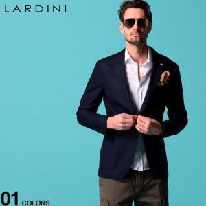 LARDINI (ラルディーニ) ブートニエール付き ウール混 無地 シングル 2ツ釦 ブレザー LDI528AERP54594|zen
