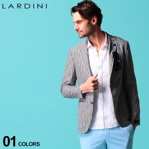 LARDINI (ラルディーニ) ブートニエール付き ジャージー ストライプ シングル 2ツ釦 ジャケット LD934AQA54523|zen