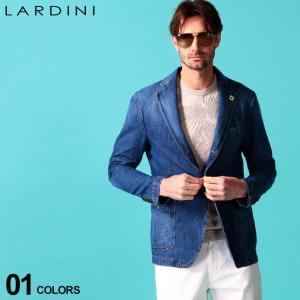 ラルディーニ メンズ ジャケット LARDINI 綿麻 段返り3つボタン デニム コットン リネン ブランド 麻ジャケット テーラード LDJUSTINEI54256|zen