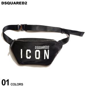 DSQUARED2 ディースクエアード ICONプリント ジップ バムバッグ ブランド メンズ バッグ 鞄 ボディバッグ ウエストポーチ ロゴ プリント D2BBM0033117031|zen
