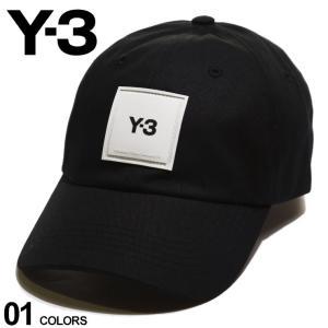 Y-3 メンズ キャップ ワイスリー ラバー ロゴ キャップ SQUARE LABEL BLACK ブランド 帽子 コットン ヨウジヤマモト Yohji Yamamoto Y3GT6379|zen